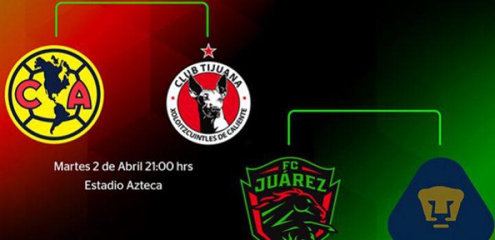 Confirman horarios para Semis de la Copa MX