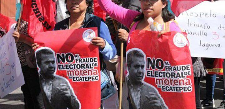 Más de 15 mil personas defienden el voto popular en Ecatepec