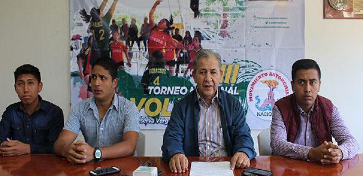 Anuncia el Movimiento Antorchista Veracruzano XIII Torneo Nacional de Voleibol