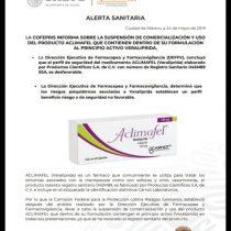 Suspende Cofepris venta de fármaco para tratar la menopausia