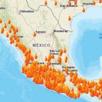 Suman 71 incendios activos en el país