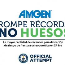 Amgen establece Récord Guinness mundial al lograr mayor número de densitometrias para detectar osteoporosis en 24 horas