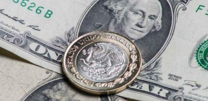 Peso con ligera ganancia; dólar regresa a 19.14 unidades