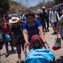 Caravana migrante es atendida en Chiapas por el gobierno