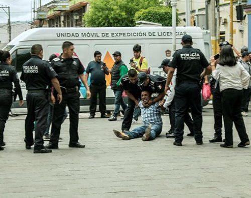 Nuevamente Morena reprime a manifestantes en Texcoco