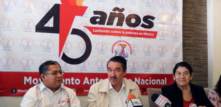 Reunirá Antorcha a 500 mil mexicanos en festejos por 45 aniversario