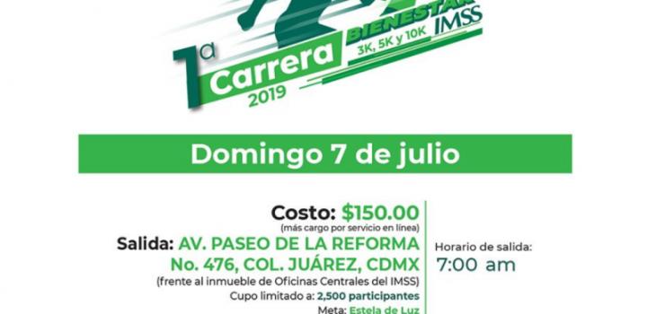 Resultado de imagen para Zoé Robledo llama a participar en la primera carrera Bienestar IMSS 2019.