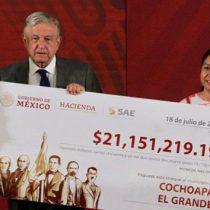 AMLO entrega a municipios de Guerrero 42 mdp de subasta