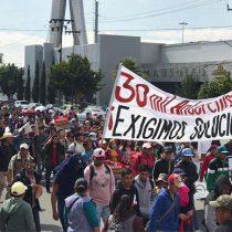 30 mil antorchistas mexiquenses protestan en Toluca para exigir obras y servicios de salud