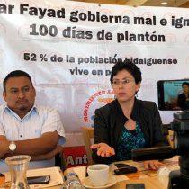 Hidalguenses cumplen 100 días en plantón; han sido ignorados por el gobierno estatal