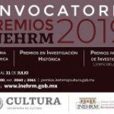 Convocatorias a los Premios INEHRM 2019 cierran el próximo 31 de julio
