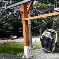 Cortan cable y caen casi 30 cabinas de un teleférico en Canadá
