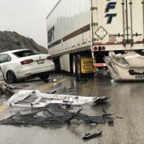 Se registran choques en la autopista Saltillo-Monterrey