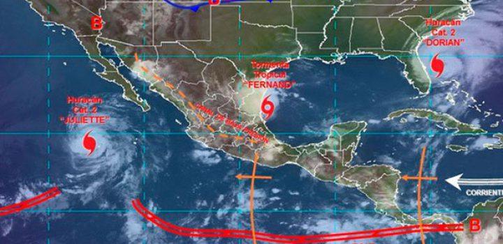 'Fernand' causará lluvias torrenciales en Tamaulipas, NL y SLP