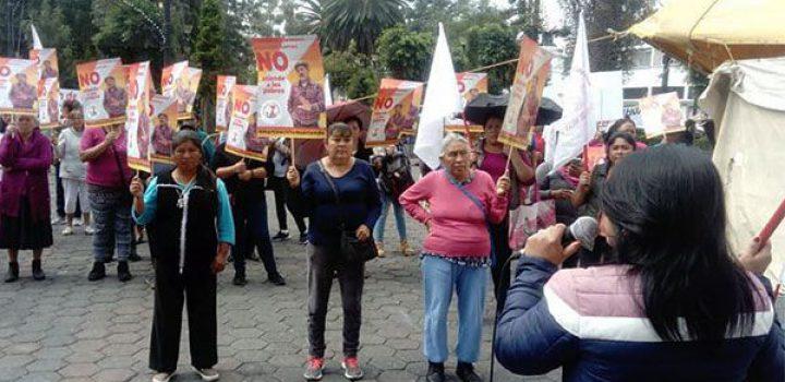 Antorchistas de Tláhuac instalan plantón en la alcaldía