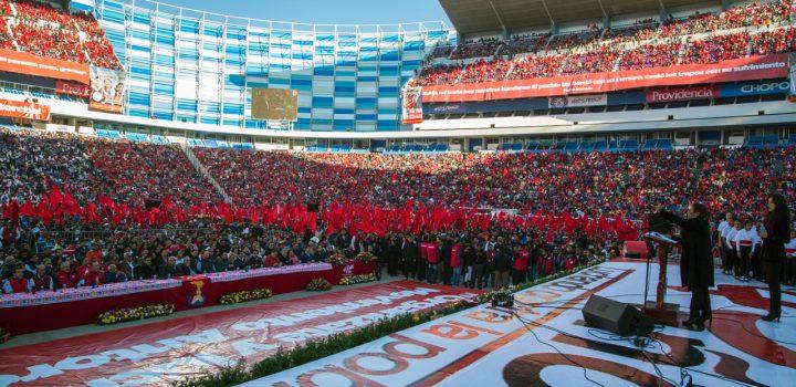En Puebla, ¡el evento  de 45 Aniversario de Antorcha va!
