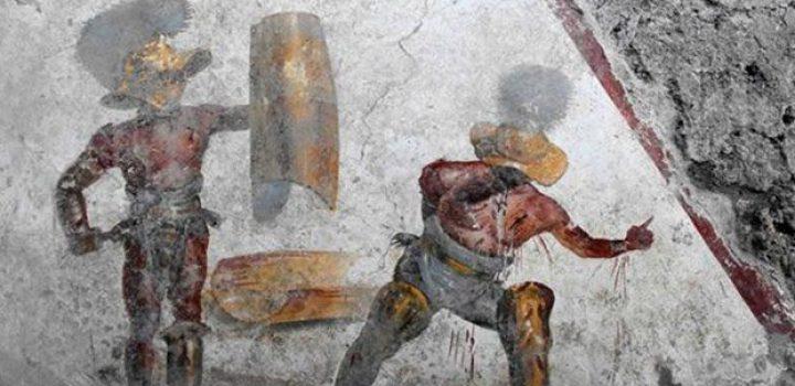 Fresco de Pompeya revela cruentas luchas de los gladiadores romanos