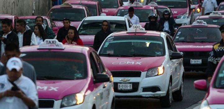 Protesta de taxistas desquicia la CDMX