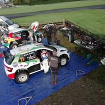 Benito Guerra realiza test previo al Rally de Gales