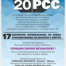 Todo listo para el 17° Encuentro Internacional de Danza Contemporánea de Solistas y Duetos en Sinaloa
