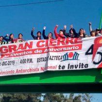 Capitalinos anuncian cierre de festejos del 45 Aniversario