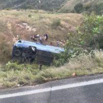 Fallecen cuatro personas en volcadura de Carretera a Colotlán