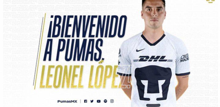 Pumas oficializa fichaje de mediocampista Leonel López