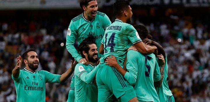 Real Madrid golea al Valencia y avanza a final de Supercopa de España