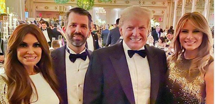 Llueven memes a novia de Donald Trump Jr. por su parecido con Melania