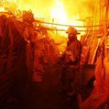 Incendio en la Central de Abasto deja ocho heridos