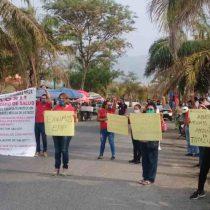 Protesta personal de salud en Chiapas, exigen insumos