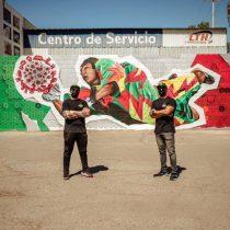 Jorge Campos inspira un mural que alienta a 'parar' el Coronavirus