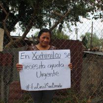 Familias pobres de Xochimilco y Tlalpan demandan alimentos y agua