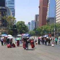 Protestan 200 comerciantes indígenas en la CDMX; piden apoyos por Covid-19