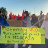 AMLO huye a protestas en Hidalgo