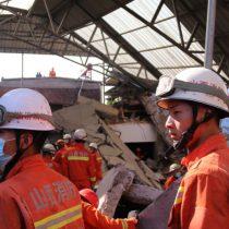 Sube a 29 el número de muertos por el desplome de un restaurante en China