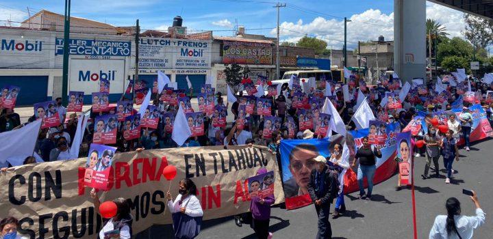 Con cadena humana, el Movimiento por el Agua en Tláhuac (MAT) exigió solución