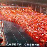 Semáforo naranja se tiñe de rojo en la México- Cuernavaca