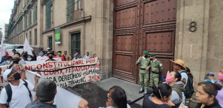 Antorchistas anuncian protesta en Palacio Nacional ante negativa de apoyos