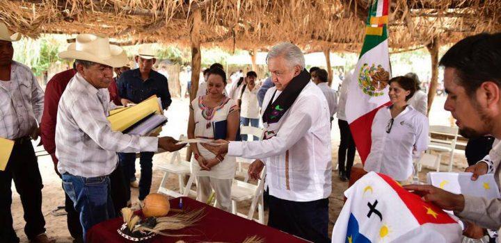 La campaña electoral de AMLO con los yaquis de Sonora