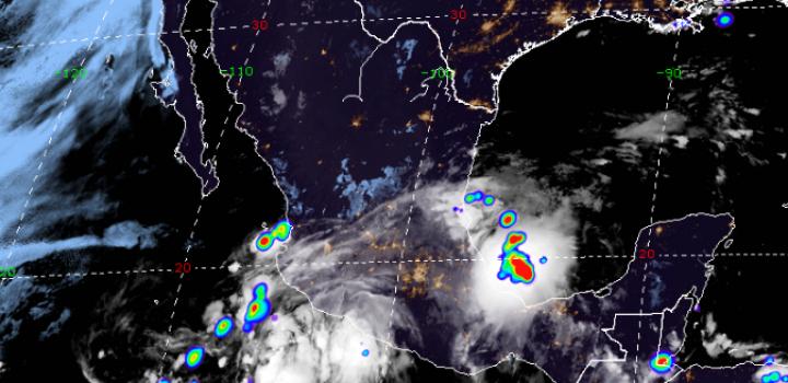 """Tormenta tropical """"Elida"""" generará lluvias intensas en 8 estados y CDMX"""