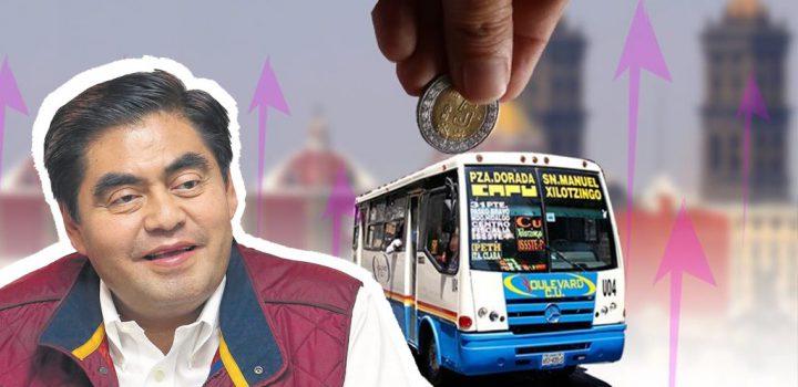 Barbosa purga de pobres el transporte público en Puebla