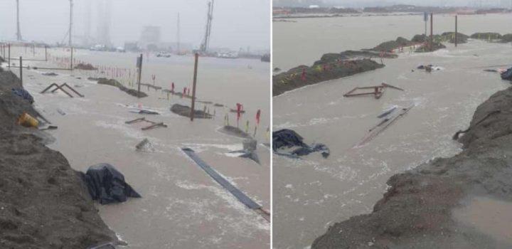 Lluvia deja encharcamientos en refinería Dos Bocas; Sener niega inundaciones