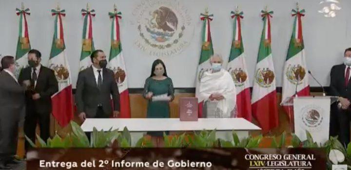 Sánchez Cordero entrega al Congreso el segundo informe de AMLO