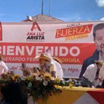 Noroña vuelve a ser agredido a 'huevazos' en Hidalgo
