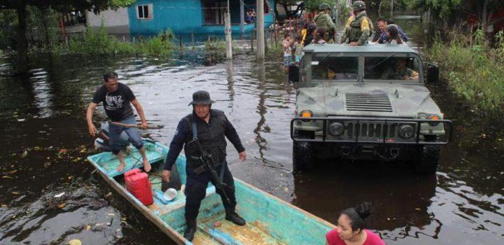 """Pronostican """"lluvias extraordinarias"""" en Chiapas y Tabasco"""
