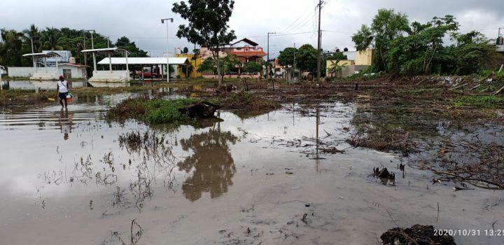 Lluvias dejan más de 50 mil personas afectadas en Chiapas, Veracruz y Tabasco.