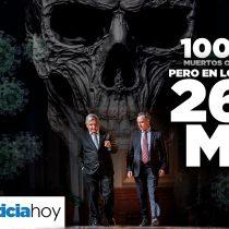 100 mil muertos oficialmente; pero en los hechos 260 mil