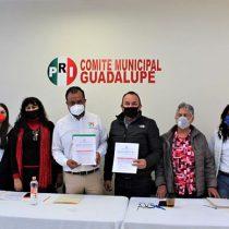 Formaliza Osvaldo Ávila registro como precandidato del PRI a la presidencia de Guadalupe