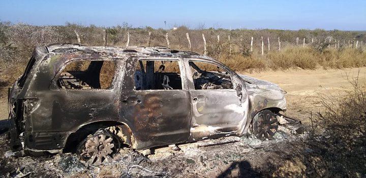 Hallan en camioneta 19 cuerpos calcinados en Camargo, Tamaulipas